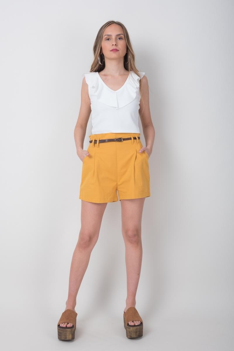 Short De Vestir C Cinturón Incluido